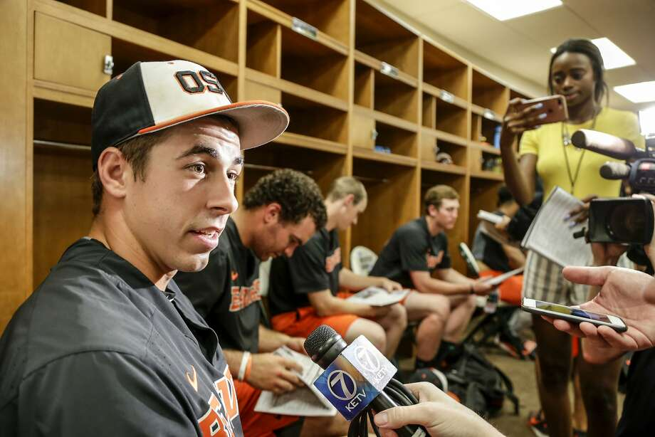 Oregon State pitcher Luke Heimlich was convicted of a molestation charge while he was a juvenile. Photo: Nati Harnik / Associated Press