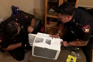 After an elderly man in the Klein area was hospitalized for dehydration and heat exhaustion, two deputies used their own money this week to make the man's home a safer place during Houston summers.