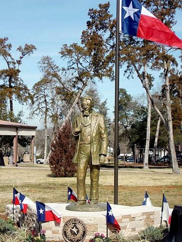 A statue of Dr. Charles B. Stewart in Cedar Brake Park in Montgomery. Four other statues are to be placed in the monument. An effort is now taking place to finish the monument four years after the statue of Dr. Stewart was dedicated in January 2014. Photo: Photo Courtesy The Cedar Brake Park Board
