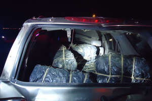 Border Patrol said it found five bundles of marijuana in a vehicle after it rolled over on Mines Road at about 9:20 p.m. Thursday, June 14, 2018. The driver of the SUV, a U.S. citizen, was pronounced dead at the scene.