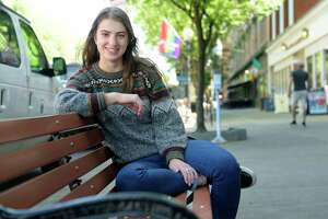 Maddie Blaha poses for a photo on Broadway on Tuesday, June 12, 2018, in Saratoga Springs, N.Y.     (Paul Buckowski/Times Union)