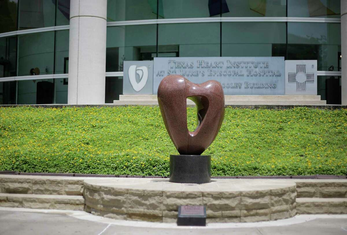 A statue in front of the Texas Heart Institute at St. Luke's Hospital on Friday, June 15, 2018 in Houston. The hospital's transplant program resumed after a two-week review.