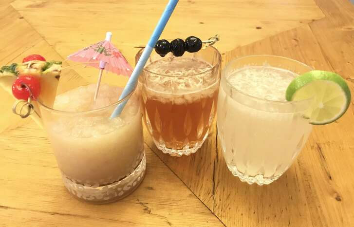 From left: Rum Punch with a Punch, Spicer's Southern Smash and Gin & Ginger, three cocktails each with ginger beer as a main ingredient.