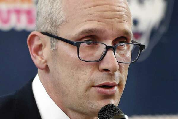 New coach Dan Hurley is looking to develop the Huskies' mindset into how he wants his team to compete in his first season.