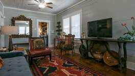 The living room of Ruthie Foultz's renovated home.