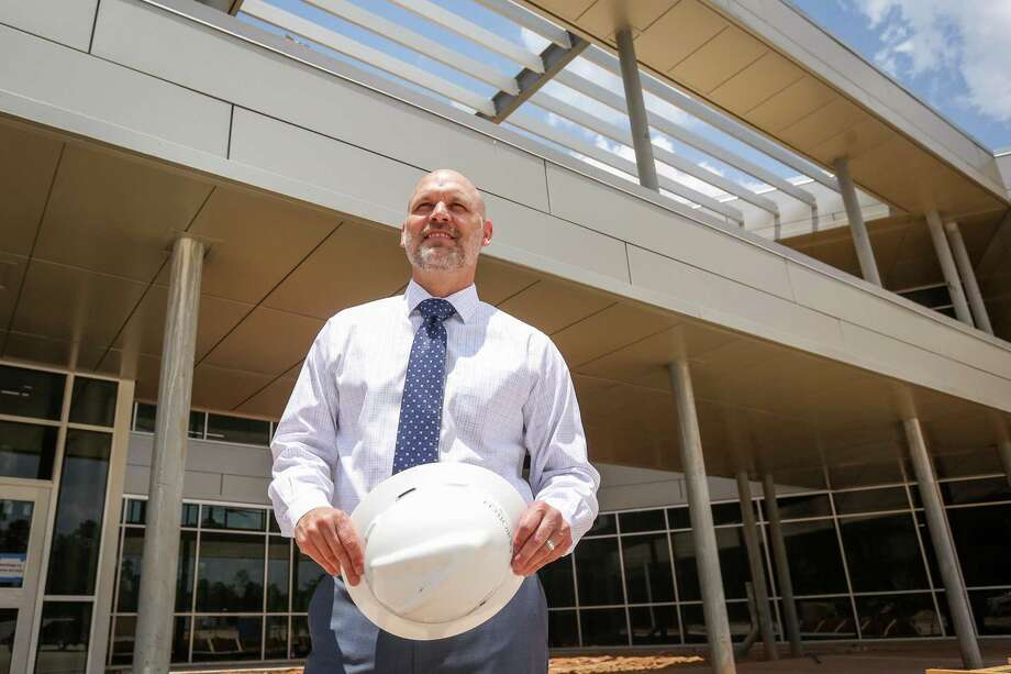 Willis ISD Superintendent Tim Harkrider poses for a portrait on Saturday, June 9, 2018, outside of the new Willis ISD Career and Technology Education Center. Harkrider was named Region 6 Superintendent of the Year and is a finalist among 20 superintendents in the state. Photo: Michael Minasi, Staff Photographer / Houston Chronicle / © 2018 Houston Chronicle