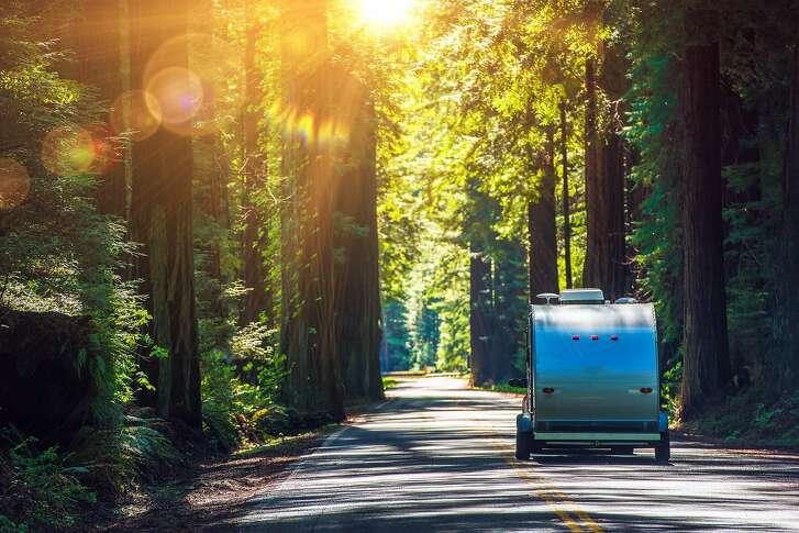 An iconic drive for RVs large and small is California�s Avenue of the Giants, a 31-mile portion of old Highway 101 surrounded by 51,222 acres of redwood groves in Humboldt Redwoods State Park.
