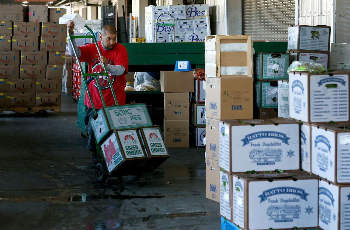 Fresh produce is prepared for distribution at the GrubMarket warehouse in San Francisco, Calif. on Friday, June 15, 2018.