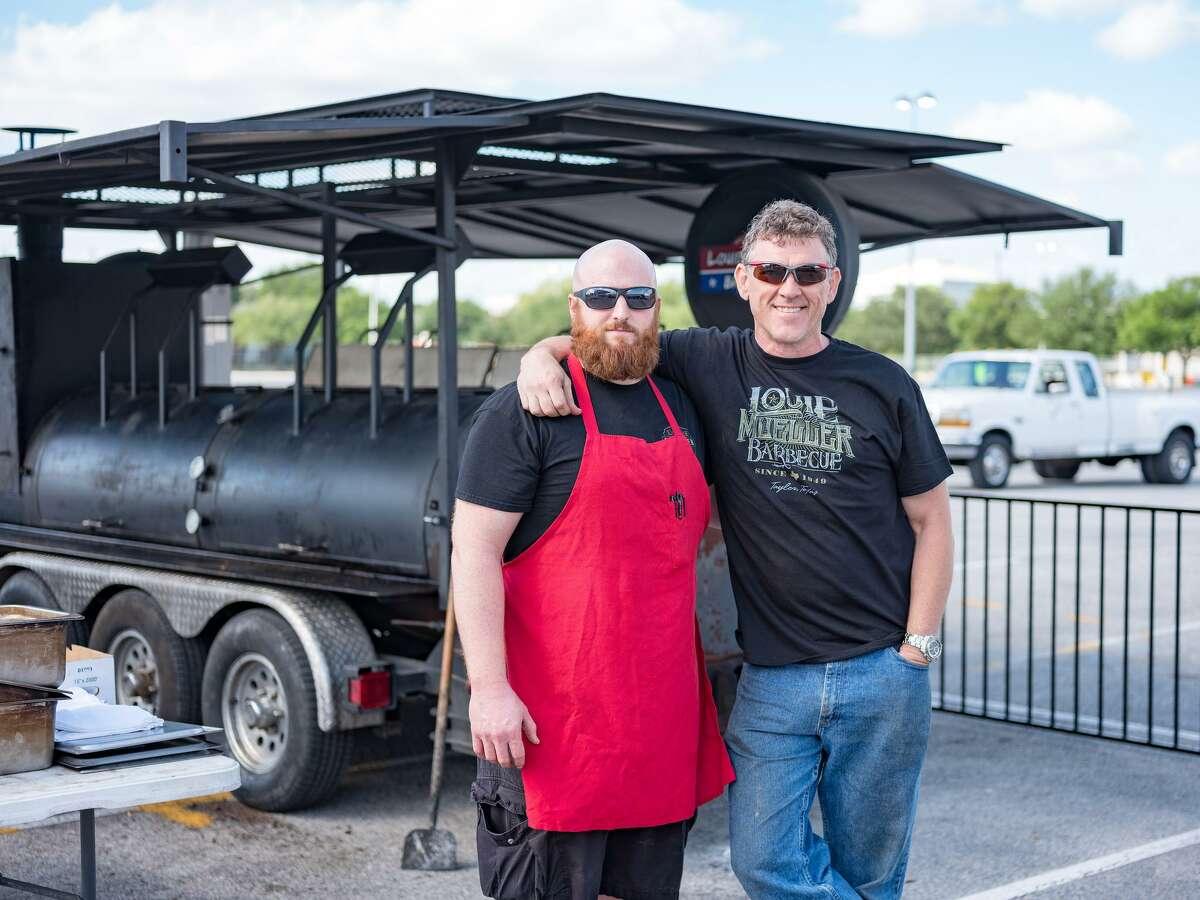 Jason Tedford and Wayne Mueller of Louie Mueller Barbecue.