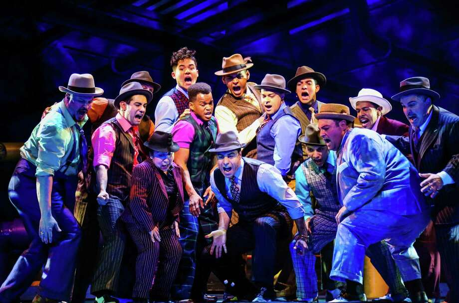 """Cast of """"Guys & Dolls"""" at Theatre Under the Stars. Photo: Melissa Taylor"""