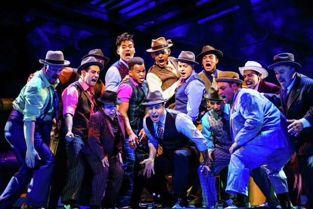 """Cast of """"Guys & Dolls"""" at Theatre Under the Stars."""