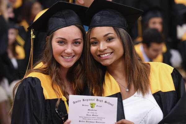 Commencement exercises at Amity Regional High School in Woodbridge on June 15, 2018.