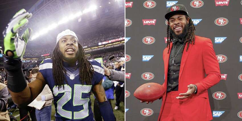 Richard Sherman: With the San Francisco 49ers Sherman signed with Seattle's NFC West rival after a messy breakup in March. The Seahawks released Sherman after the All-Pro corner tore his Achilles tendon during the 2017 season, and Sherman said he's feeling