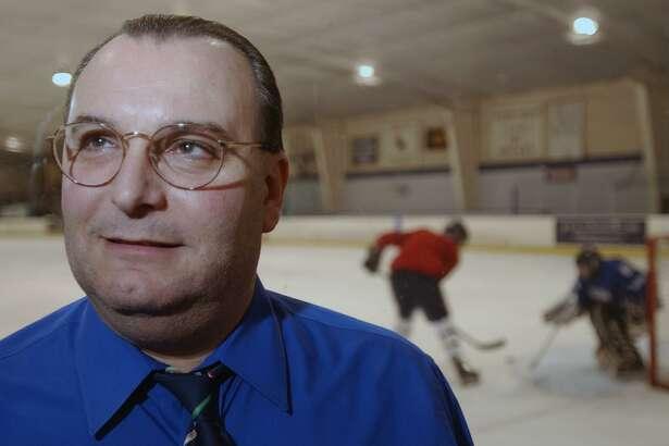 Milford, Connecticut-12/9/02: Milford H.S. hockey coach Sal Follo. ©2002 Peter Hvizdak    ph0063c   #3412