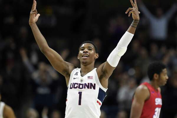 UConn's Christian Vital is returning for his junior year after making himself eligible of the NBA Draft. (AP Photo/Jessica Hill)