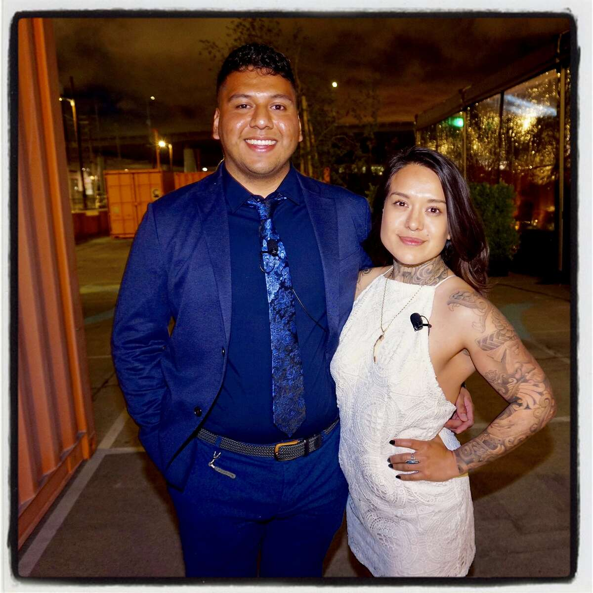 CCA graduates at Daniel Ortiz and Arleene Correa Valencia at the school's scholarship fundraising dinner. May 23, 2018.