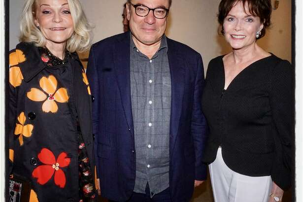 CCA trustees and gala co-chairs Cathy Podell and Stanlee Gatti (at left) with honoree Kay Kimpton Walker. May 23, 2018.