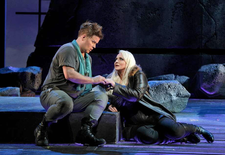 "Daniel Brenna appears as Siegfried and Iréne Theorin is Brünnhilde in ""Siegfried."" Photo: Cory Weaver / San Francisco Opera"