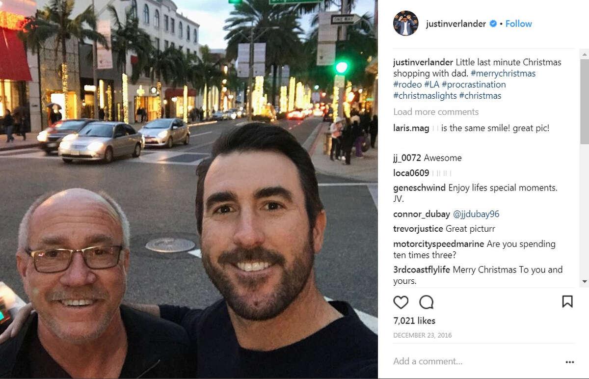 Justin Verlander, Astros Houston Astros' pitcher Justin Verlander with his father.