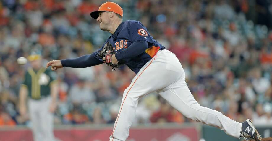 PHOTOS: Astros game-by-game Houston Astros relief pitcher Joe Smith (38) pitches in the top of the ninth inning against Oakland Athletics at Minute Maid Park on Sunday, April 29, 2018, in Houston. Astros won the game 8-4 and the series 2-1.  ( Elizabeth Conley / Houston Chronicle ) Browse through the photos to see how the Astros have fared through each game this season. Photo: Elizabeth Conley/Houston Chronicle