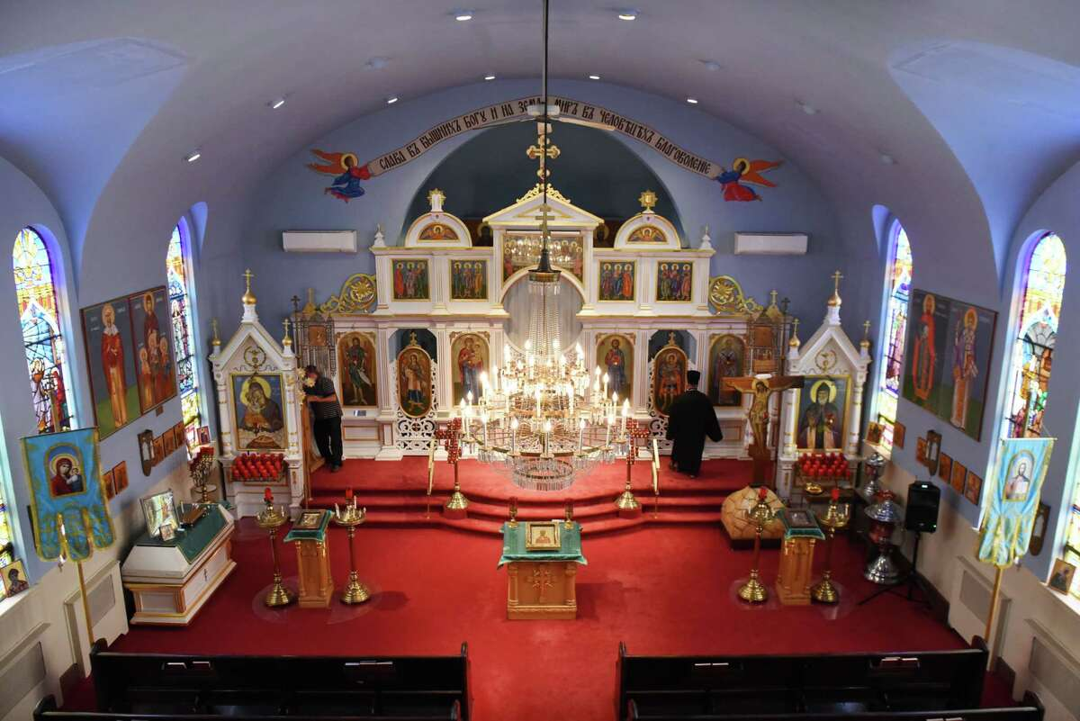 Interior of St. Nicholas Russian Orthodox Church on Thursday, June 14, 2018, in Cohoes, N.Y. (Will Waldron/Times Union)