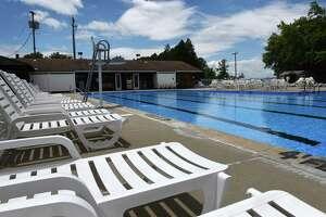 The Niskayuna Town Pool on Aqueduct Road is prepared ahead of Saturday's opening on Friday, June 15, 2018, in Niskayuna, N.Y. (Will Waldron/Times Union)
