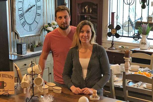 Chad and Sarah Melisky, owners of the newly opened Country Primitives.