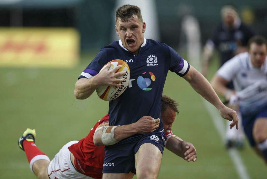 Fresh off a 48-10 victory over Canada, Mark Bennett and his Scottish teammates take on the U.S. national rugby team Saturday night at BBVA Compass Stadium. Photo: JASON FRANSON, SUB / Associated Press / The Canadian Press