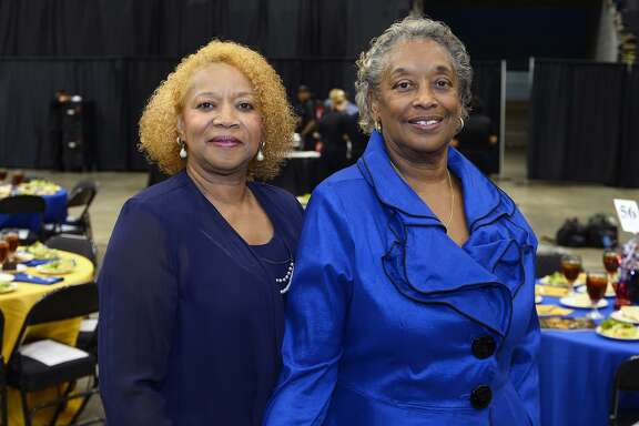 Gatsy Moye and Gwendolyn S. Walters at the NAACP's 35th Annual Juneteenth Freedom Fund and Awards Banquet at the Beaumont Civic Center.   Photo taken Friday 6/15/18  Ryan Pelham/The Enterprise
