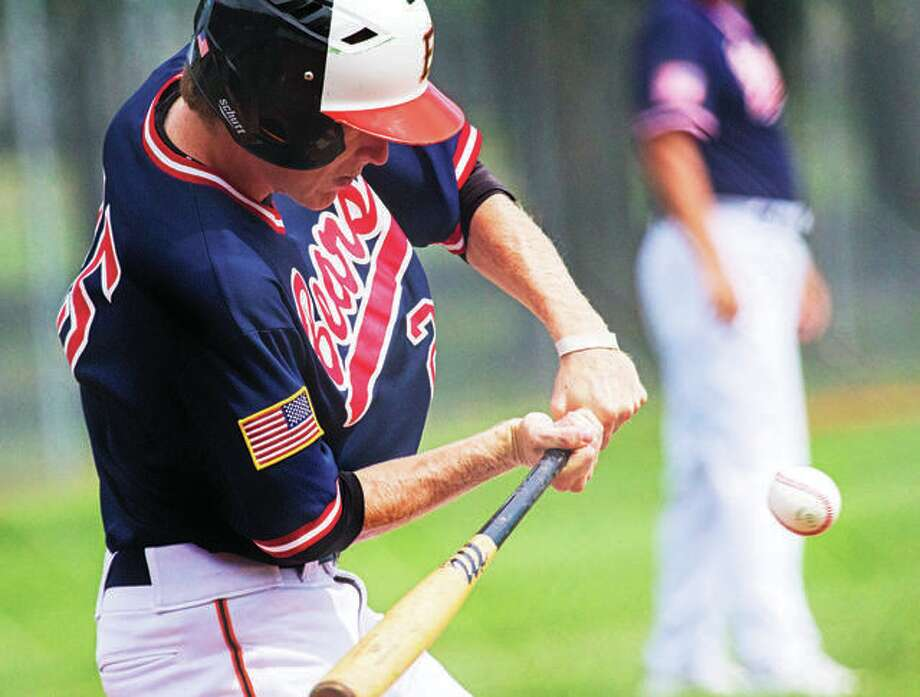 First baseman Will Messer had an RBI single for Edwardsville Post 199, but Danville rallied to claim a 6-5 comeback win Friday night in the Ron Bone Invitational Showcase at Jefferson College in Hillsboro, Mo. Photo:       Telegraph File Photo