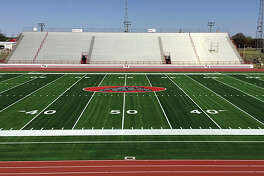 The Plainview Bulldogs' football field (pictured above) is the first-ever Ecotherm field in the United States. The material of the field helps to reduce field surface temperatures by as much as 20 degrees