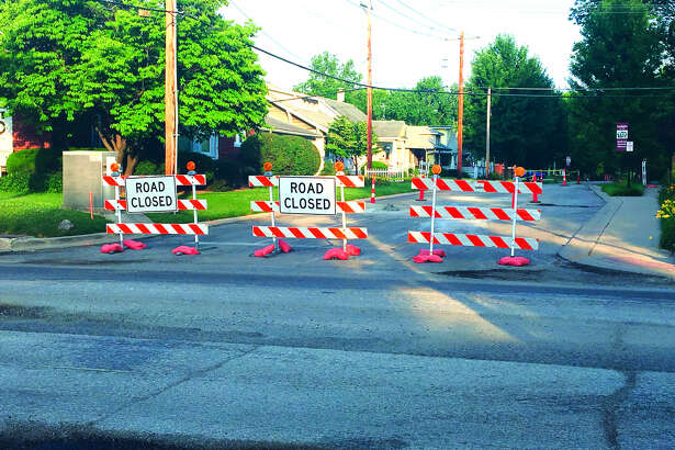 Earlier this week, barricades went up to signal the closure of Franklin Avenue between Troy Road and Plum Street. The work is part of a larger project that will see Troy Road resurfaced from the Leclaire baseball field to Franklin.