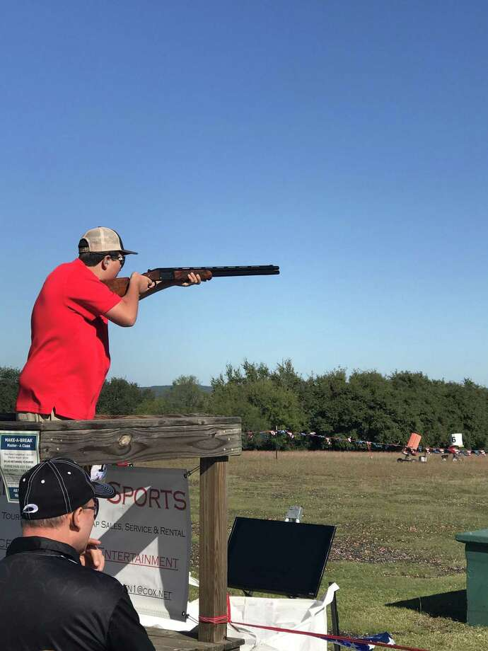 Hargrave's Cade Faetche won the 2018 trap shooting championship for the state of Texas Photo: Carl Faetche
