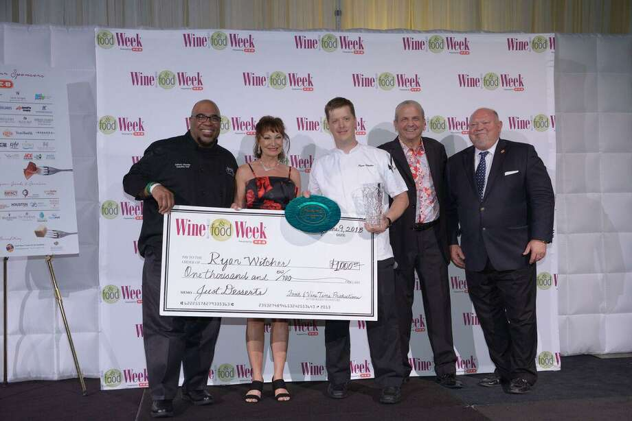 Executive Pastry Chef Ryan Witcher, of Robard's Steakhouse, took home the Just Desserts award and $1,000 cash prize for his Texas Two Step Donut Sundae. Photo: Courtesy Of Food & Vine Time Productions / Courtesy Of Food & Vine Time Productions