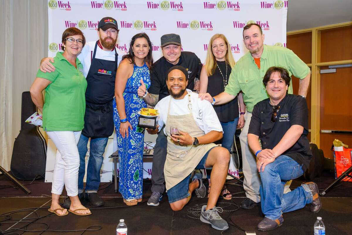 Chef Michael Gabriel was named the Sips, Suds & Tacos Taco Takedown winner with his braised smoked beef cheek and beef tongue tacos.