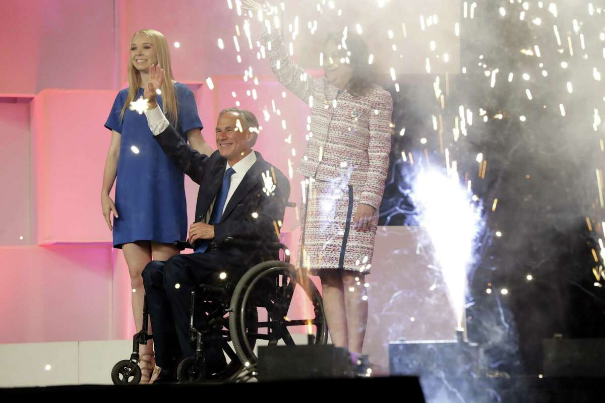Gov. Greg Abbott is lukewarm about a 'red flag' gun law for Texas. Maybe he changed his mind at the Texas GOP Convention, which he attended with his wife, Cecilia, right, and daughter, Audrey, June 15, 2018, in San Antonio.