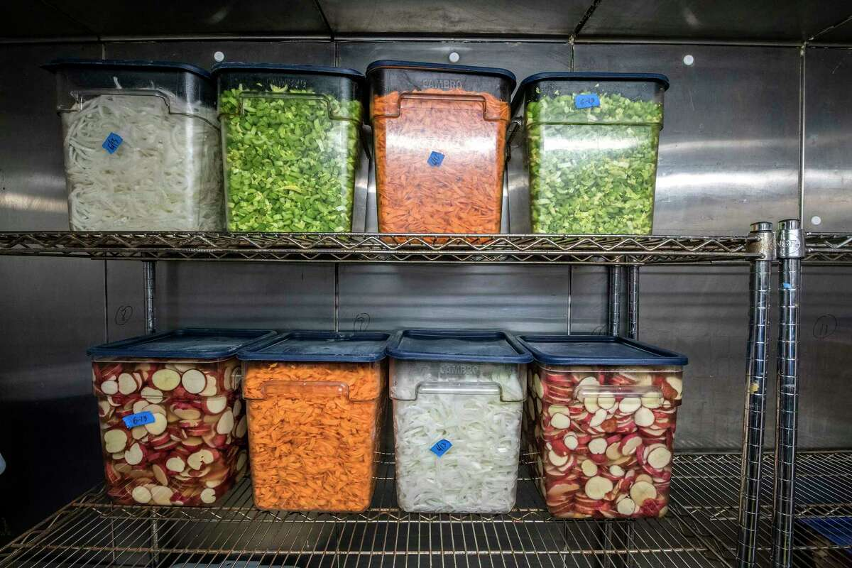 Vegetables ready for soup making at 9 Miles East Farm's food distribution business June 13, 2018 near Schuylerville, N.Y. (Skip Dickstein/Times Union)