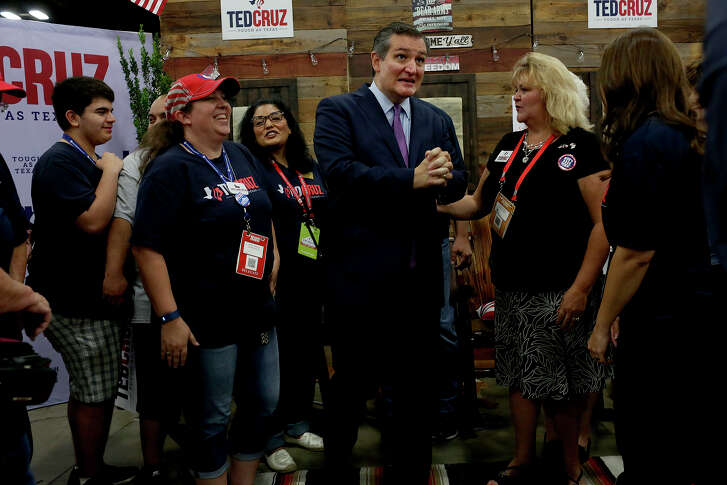 U.S. Senator Ted Cruz talks with supporters during the Texas Republican Convention at the Henry B. Gonzalez Convention Center in San Antonio on Satuday, June 16, 2018.