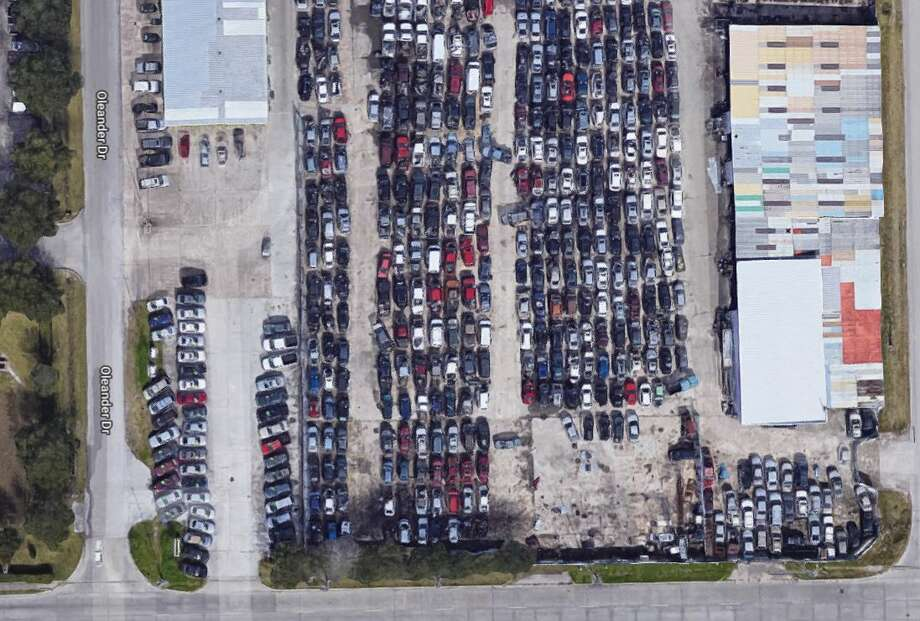 Pasadena Volunteer Fire Department firefighters responded to a fire Saturday afternoon at the Gold Dust Auto Parts salvage yard on Spencer and Oleander in Pasadena. Courtesy of Google Maps Photo: Courtesy Of Google Maps