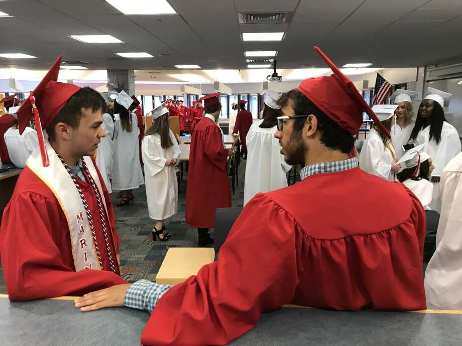 Cromwell High School graduated its Class of 2018 on Friday, June 15, 2018. Photo: Jeff Mill / Hearst Connecticut Media