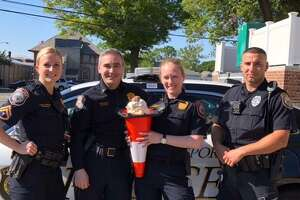 Cones with a Cop will take place on Monday, June 18, 2018, in Westport, Conn.