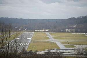Westward view of Danbury Municipal Airport.