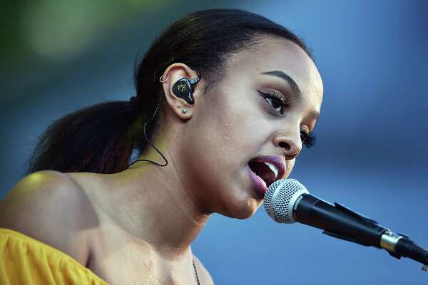 Canadian singer-songwriter Ruth B performs her songs from her debut album Safe Haven at the International Festival of Arts and Ideas on the historic New Haven Green, Saturday, June 16, 2018.