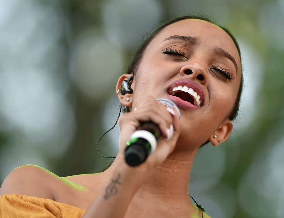 Images of Canadian singer-songwriter Ruth B performs her songs from her debut album Safe Haven at the International Festival of Arts and Ideas on the historic New Haven Green, Saturday, June 16, 2018. Photo: Catherine Avalone, Hearst Connecticut Media / New Haven Register