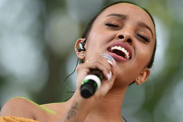 Images of Canadian singer-songwriter Ruth B performs her songs from her debut album Safe Haven at the International Festival of Arts and Ideas on the historic New Haven Green, Saturday, June 16, 2018.