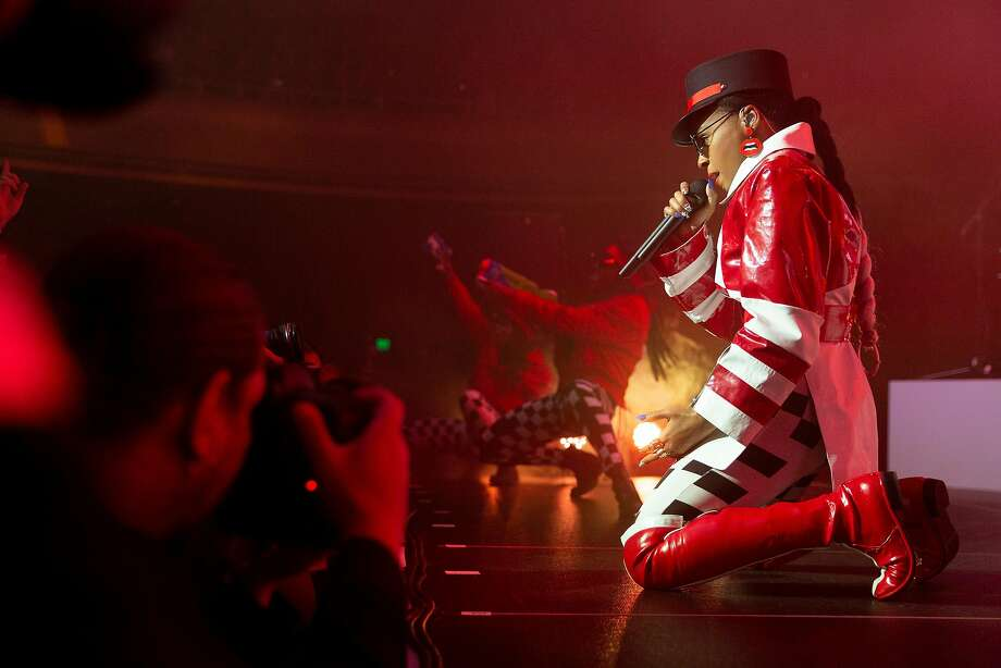 "Janelle Monáe performs Saturday at the Masonic during her ""Dirty Computer"" tour. Photo: Santiago Mejia / The Chronicle"