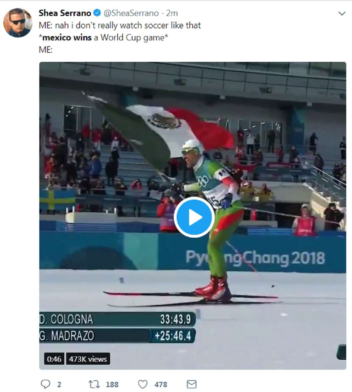 Mexican fans went nuts on Twitter following Mexico's huge upset win over No. 1 ranked Germany in their World Cup opener Sunday, June 17, 2018.