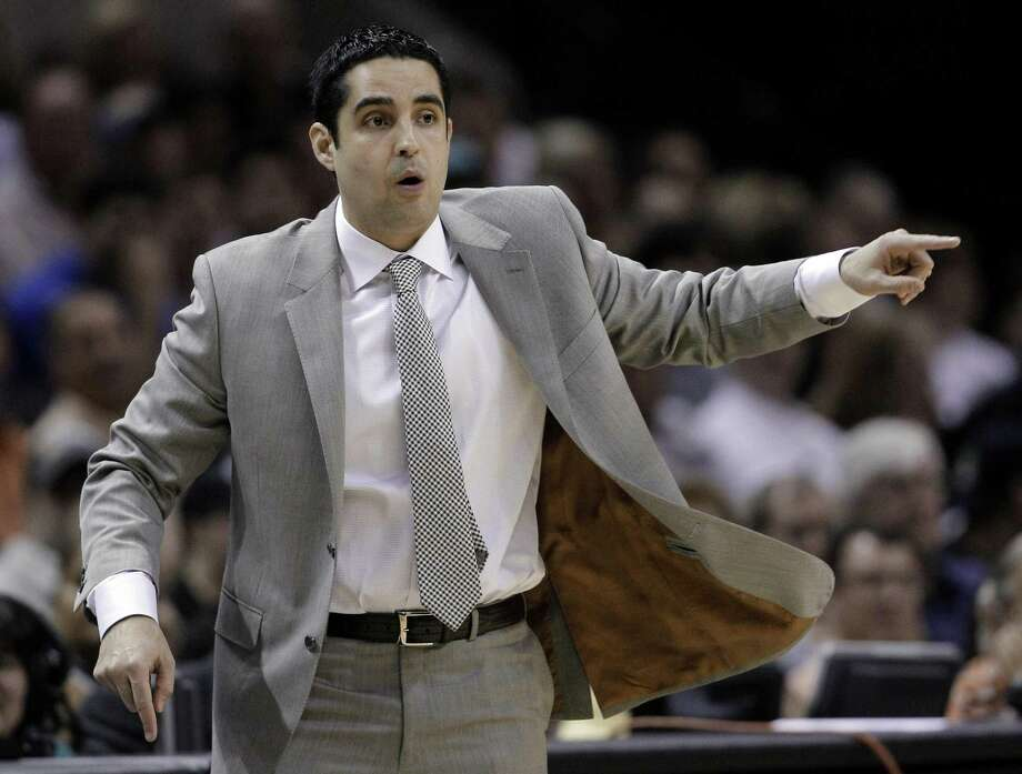 Laredo native Kaleb Canales turned assistant coach for the New York Knicks talked about being the first Mexican-American NBA coach in a video posted on the Knicks' Twitter account Sunday.  Photo: Eric Gay /Associated Press File / AP