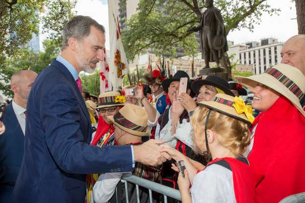 King Felipe VI and Queen Letizia meet with various city and county leaders, as well as other locals, during their visit to San Antonio on Sunday, June 17, 2018. The royal couple are in town to celebrate San Antonio's tricentennial.