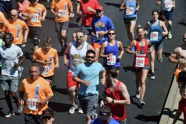 Branford, Connecticut - Sunday, June 17, 2018. The 39th annual Branford Father's Day 5-Mile Run,  2 Mile Health Walk  was the 1-mile Kids Fun Run Sunday in Branford.